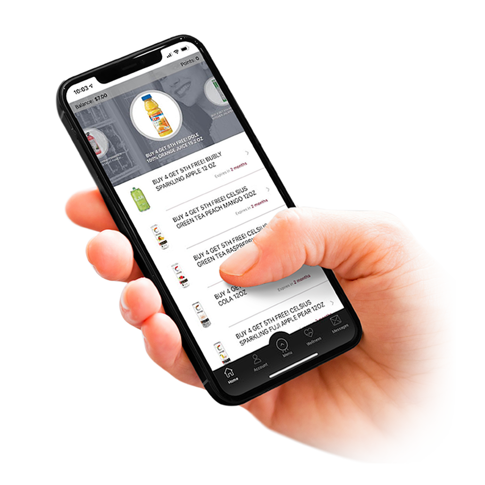 Mobile Vending Ordering via App iOS or Android