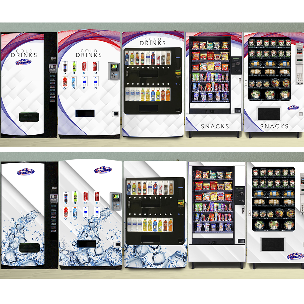 customized vending machines in office